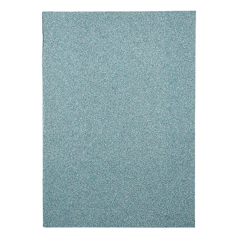 WS Book Cover Glitter Teal 45cm x 1m, , hi-res image number null