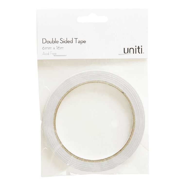 Uniti Double Sided Glue Tape 6mm x 16m Clear, , hi-res