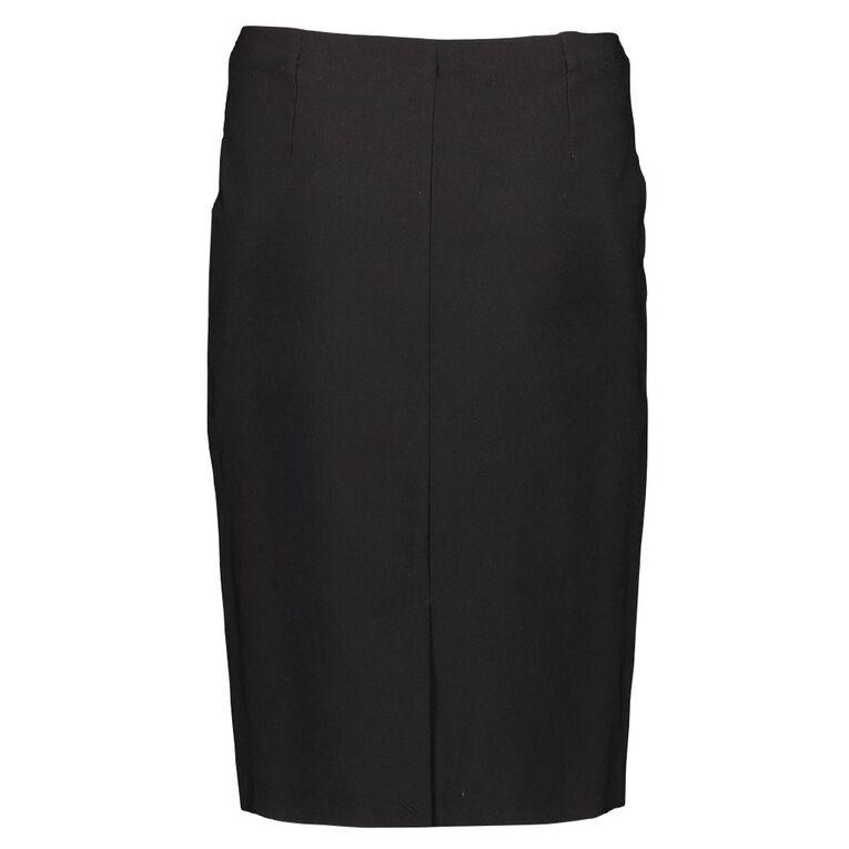 H&H Women's Basic Bengaline Skirt, Black, hi-res