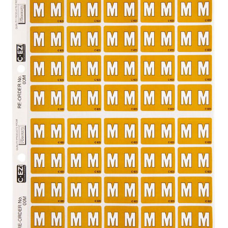 Filecorp Coloured Labels M Yellow, , hi-res