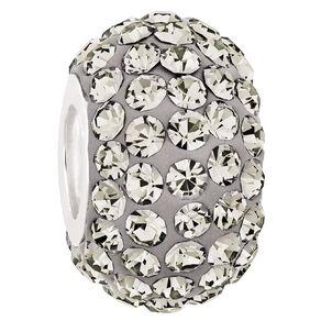 Ane Si Dora Sterling Silver Dark Grey Crystal Charm