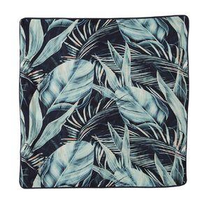 Living & Co Pillowcase Euro Cotton 180 TC Beach Palms Green 65cm x 65cm