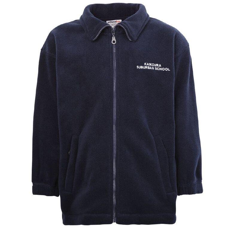 Schooltex Kaikoura Suburb Polar Fleece Jacket with Embroidery, Navy, hi-res