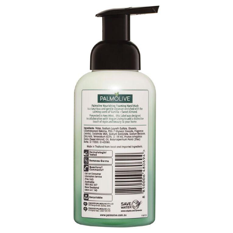 Palmolive Foaming Hand Wash Pump Vanilla & Sweet Almond 400ml, , hi-res