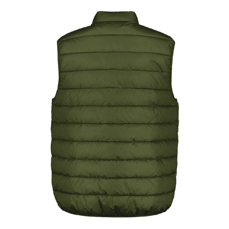 H&H Men's Recycled Puffer Vest, Khaki, hi-res