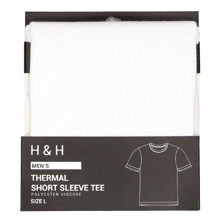 H&H Men's Polyester Viscose Thermal Top, White, hi-res