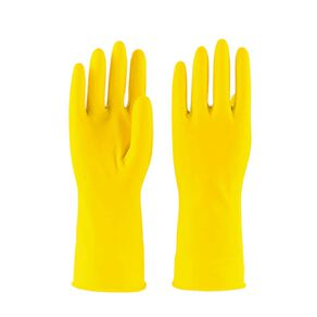 Maxcare Rubber Gloves Yellow 2 Pack Assorted