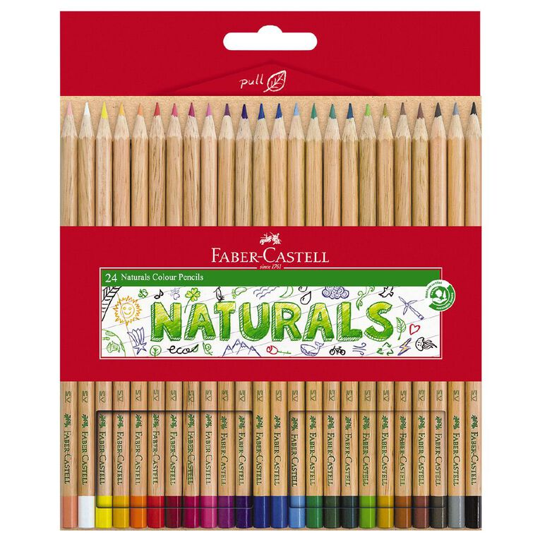 Faber-Castell Colour Pencils Naturals 24 Pack, , hi-res
