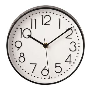 Living & Co Clock White  20.5cm x 20.5cm White/Black