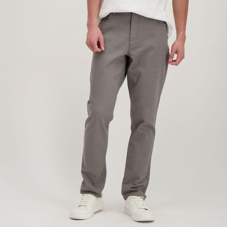 H&H Men's Straight Coloured Pants, Grey Dark, hi-res