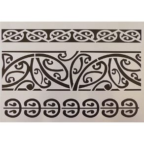 Fivestar Stencil Maori Designs A4