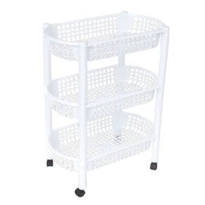 Living & Co Plastic Trolley White 3 Tier
