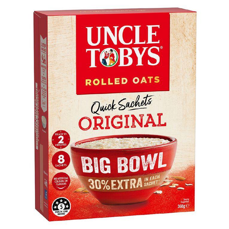 Uncle Tobys Quick Oats Original Big Bowl 368g, , hi-res