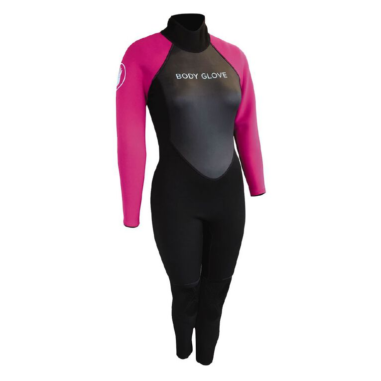 Body Glove Womens Full Suit Black/Pink Size 10, , hi-res