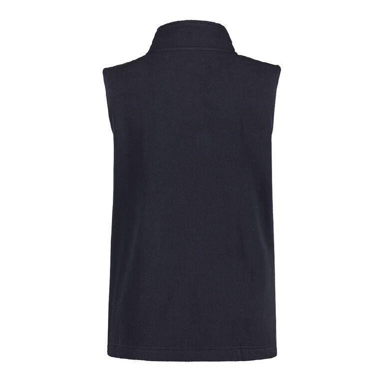 H&H Plus Women's Microfleece Vest, Navy, hi-res