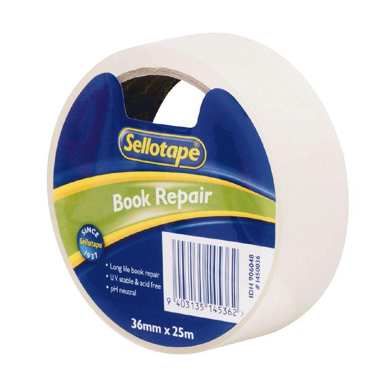 Sellotape Book Repair Tape 36mm x 25m Clear, , hi-res