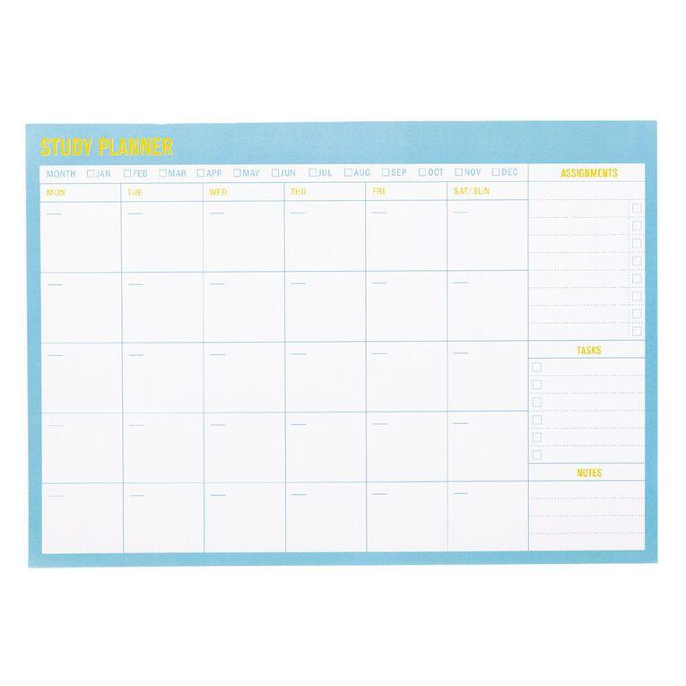 Uniti Back To School Homework Planner Blue Light, , hi-res