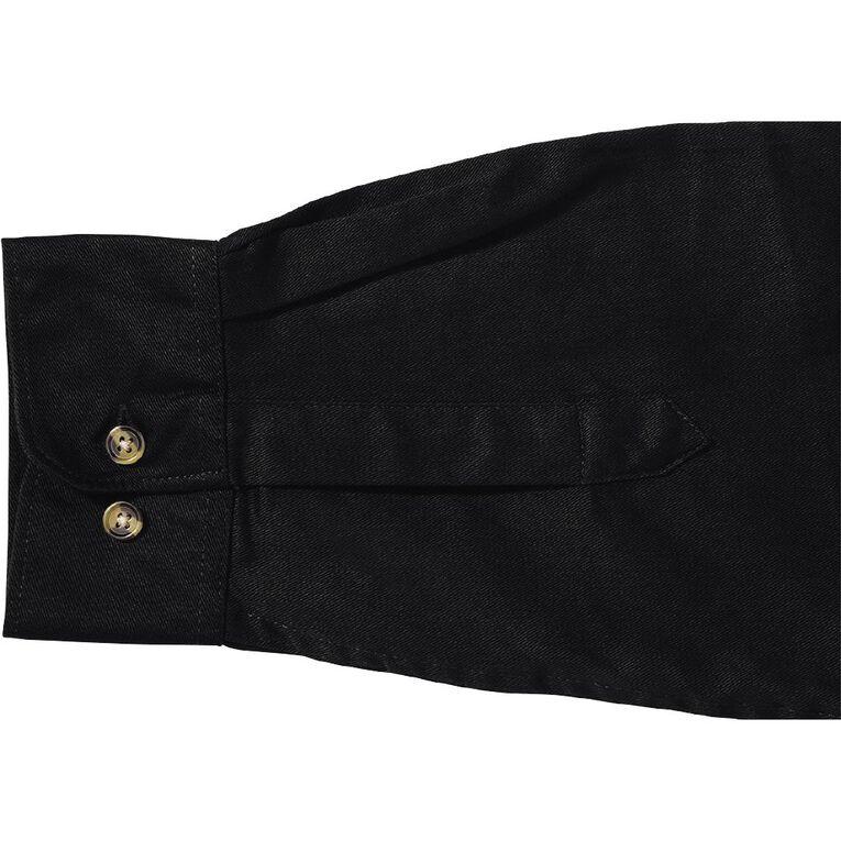 Bisley Workwear Long Sleeve Shirt, Black, hi-res