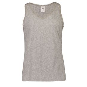 H&H Women's V Neck Lace Sleep Singlet