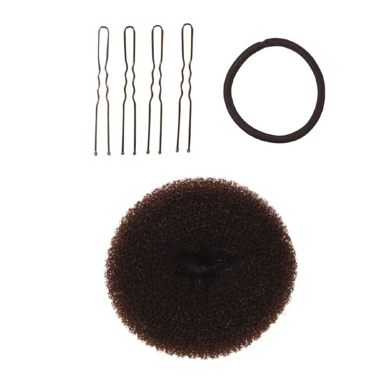 Colour Co. Hair Donut Bun Ring Dark 8.5cm, , hi-res
