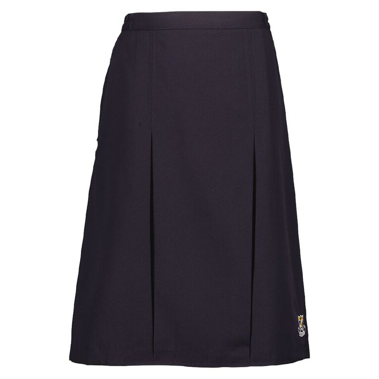 Schooltex Onewhero Area School Inverted Skirt with Embroidery, Navy, hi-res