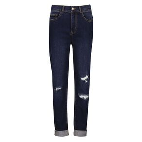 Young Original Distressed Roll Hem Jeans
