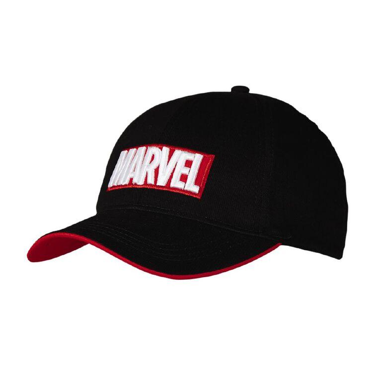 Marvel Men's Cap, Black, hi-res