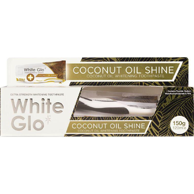 White Glo Coconut Oil Toothpaste 150g, , hi-res