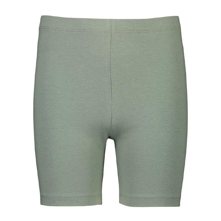 Young Original Plain Coloured Bike Shorts, Green Light, hi-res