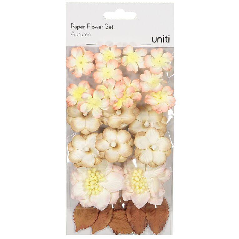 Uniti Paper Flower Set Autumn, , hi-res