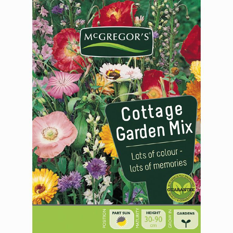 McGregor's Cottage Garden Mixed Flower Seeds, , hi-res