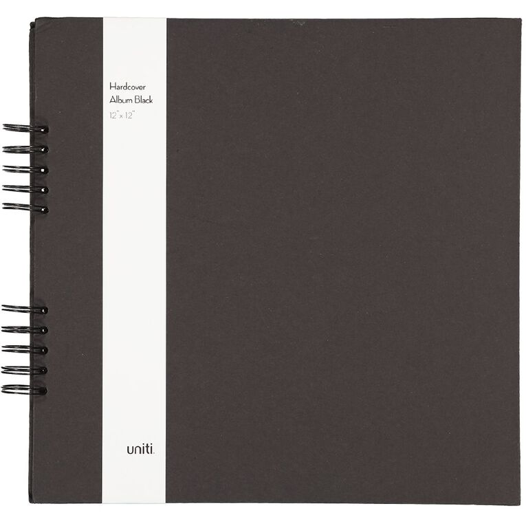 Uniti Spiral Album Black 12in x 12in, , hi-res