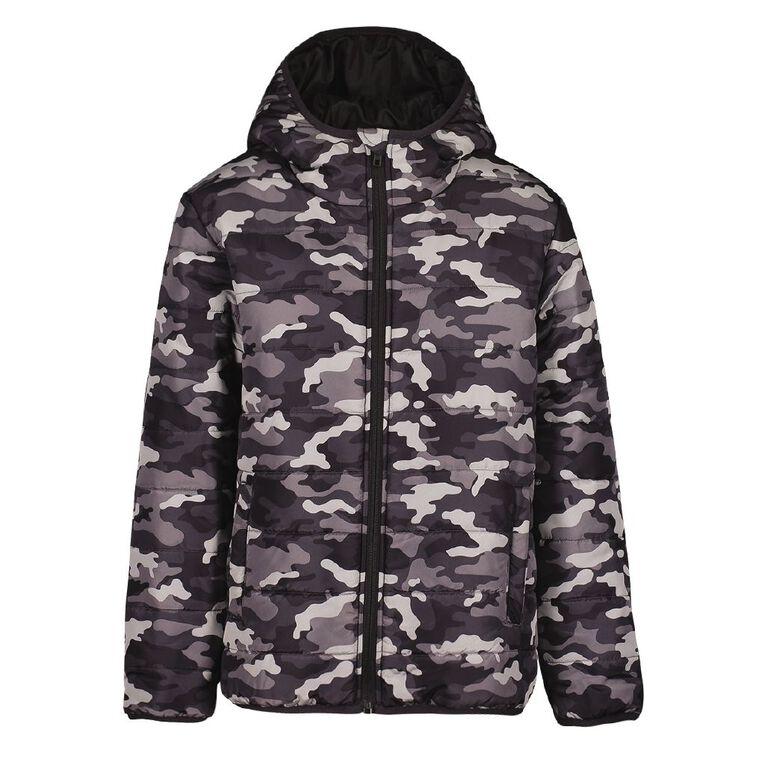 Young Original AOP Puffer Jacket, Black, hi-res