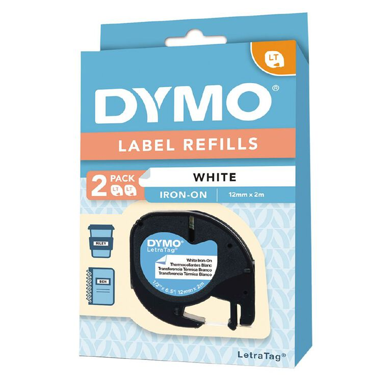 Dymo LetraTag Iron-On Labels 2 Pack, , hi-res