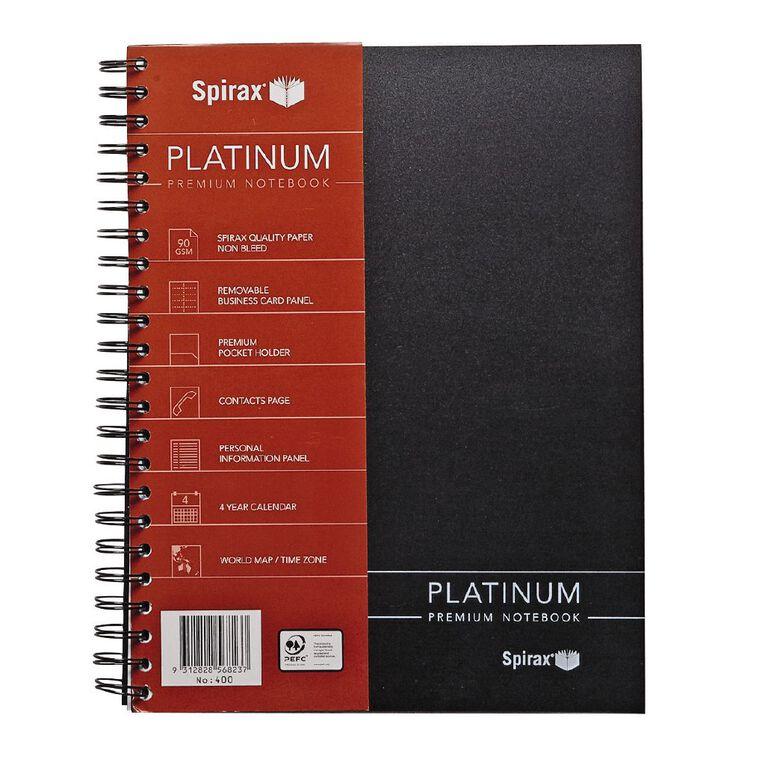 Spirax Notebook 400 Platinum Black A4, , hi-res