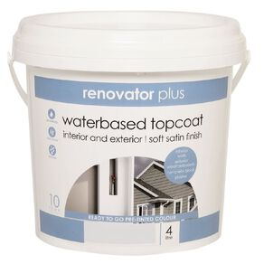 Renovator Plus Soft Satin Paint Perfect White 4L