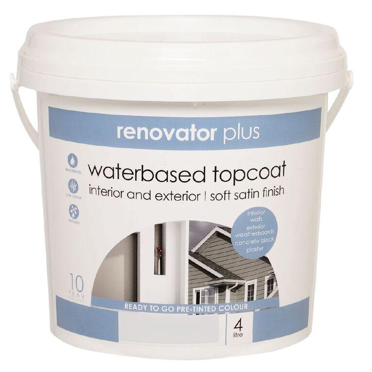 Renovator Plus Soft Satin Paint Perfect White 4L, , hi-res