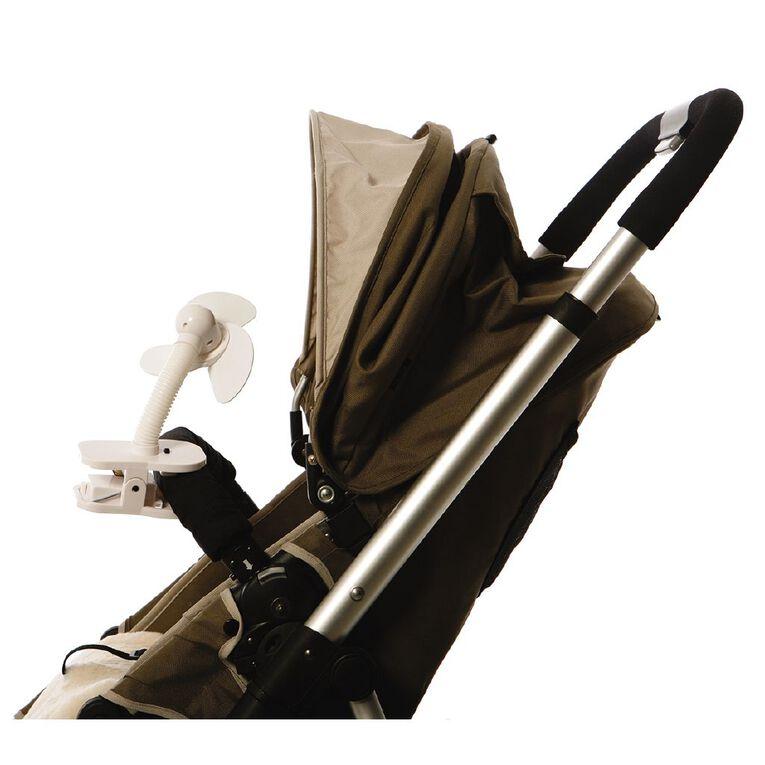 Dreambaby Strollerbuddy Stroller Fan White, , hi-res