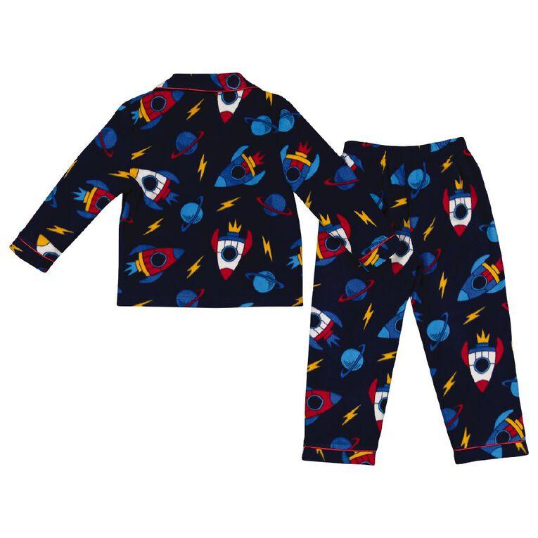 H&H Boys' Fleece Pyjamas, Navy, hi-res