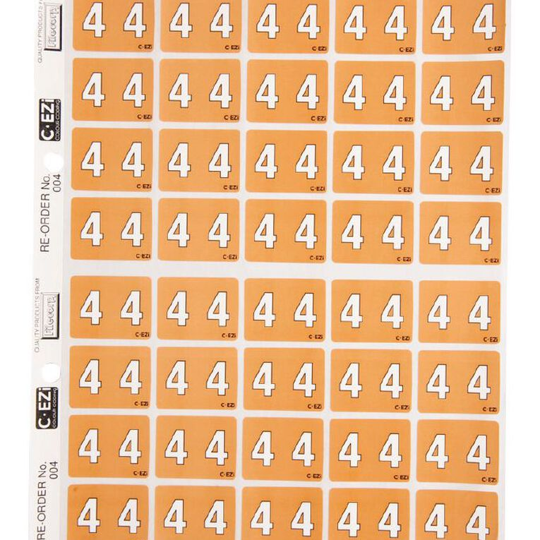 Filecorp Coloured Labels 4 Orange, , hi-res