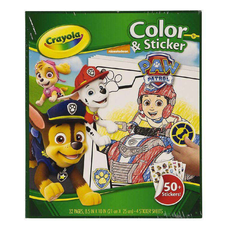Crayola Colour & Sticker Book Paw Patrol, , hi-res