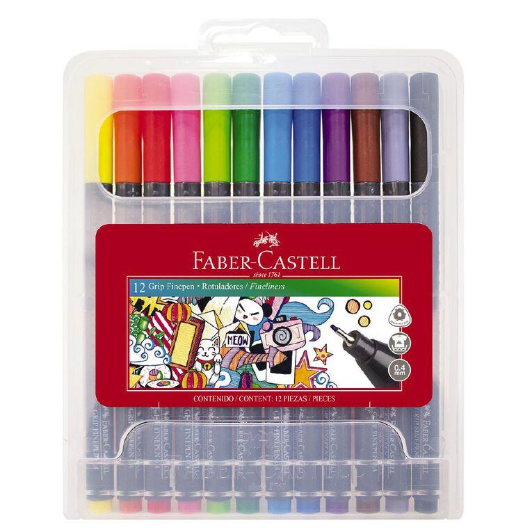 Faber-Castell Grip Fine Pen 0.4mm - Hard Case of 12, , hi-res
