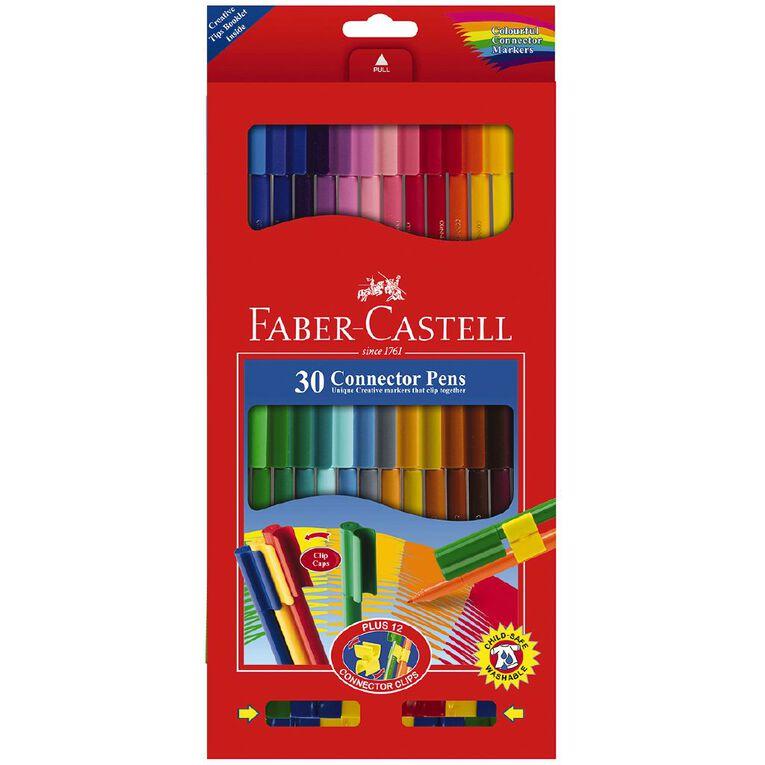 Faber-Castell Connector Felt Tip Markers Cardboard Wallet of 30, , hi-res