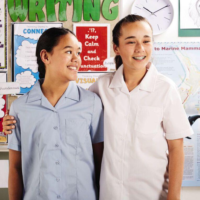 Schooltex Kids' School Over Blouse, Pale Blue, hi-res