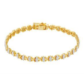 1.00 Carat Diamond 9ct Gold Kiss Bracelet