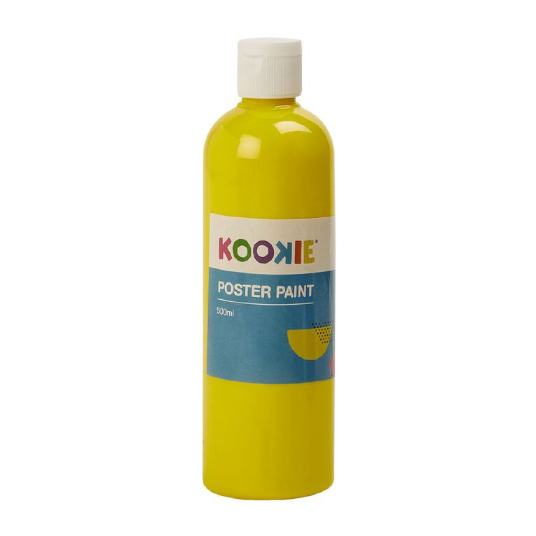 Kookie Poster Paint Yellow 500ml, , hi-res