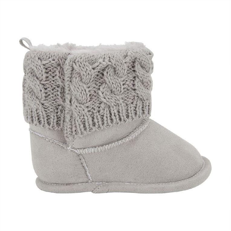 Young Original Infants' Knit Top Boots, Grey, hi-res