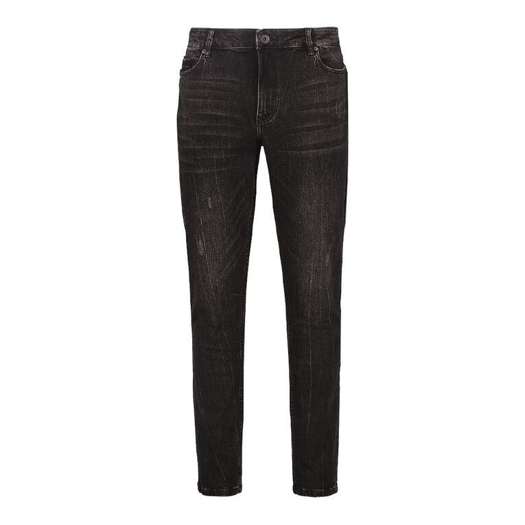 Garage Men's Abraised Skinny Jean, Black, hi-res