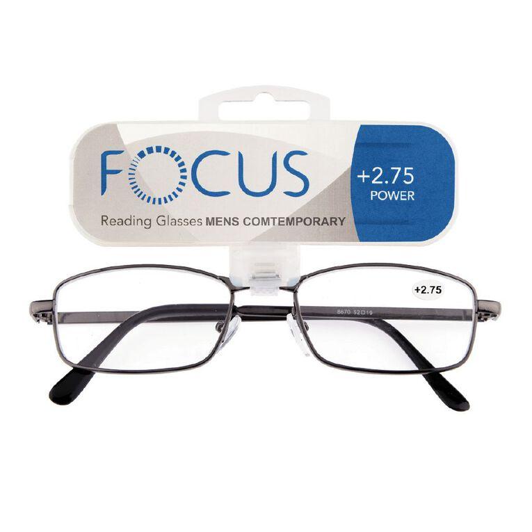 Focus Reading Glasses Men's Contemporary 2.75, , hi-res