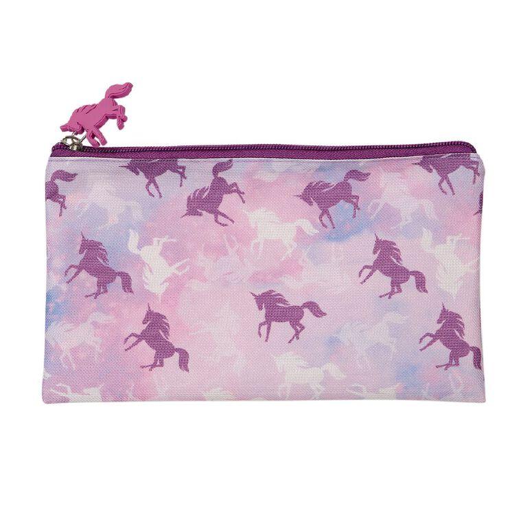 WS Pencil Case Flat Unicorn, , hi-res
